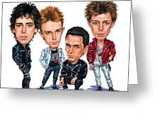 The Clash Greeting Card by Art