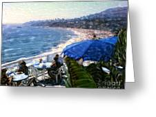 The Cliff Laguna Beach Greeting Card by Glenn McNary