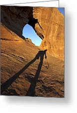 The Climb Greeting Card by Mike McGlothlen