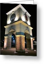 The Clock Tower Greeting Card by Guy Ricketts