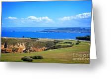 The Coast Of La Coruna Greeting Card by Mary Machare