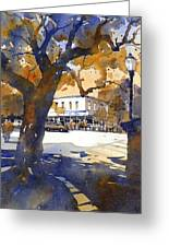 The College Street Oak Greeting Card by Iain Stewart
