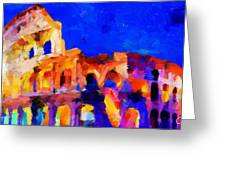 The Colosseum Tnm Greeting Card by Vincent DiNovici