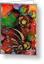 The Colours Of My Mind.. Greeting Card by Jolanta Anna Karolska