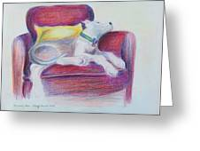 The Comfy Chair Greeting Card by Ginny Schmidt