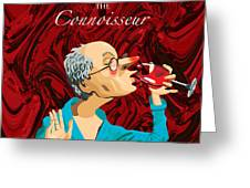 The Connoisseur Greeting Card by Johnny Trippick