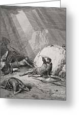 The Conversion Of St. Paul Greeting Card by Gustave Dore