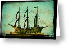 The Copper Ship Greeting Card by Colleen Kammerer