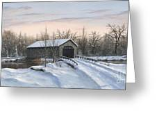 The Covered Bridge Greeting Card by Phil Christman