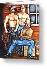 The Cowboy Way Greeting Card by Joseph Sonday
