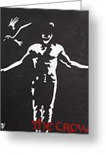 The Crow Greeting Card by Marisela Mungia