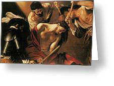 The Crowing With Thorns Greeting Card by Caravaggio
