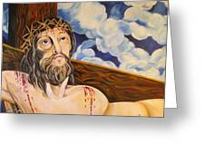 The Crucifixion Greeting Card by John Keaton