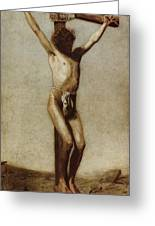 The Crucifixion Greeting Card by Thomas Eakins