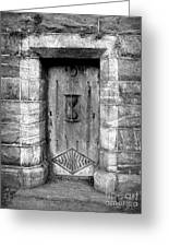 The Crypt Door Greeting Card by Avis  Noelle