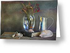 The Crystal Vase Greeting Card by Diana Angstadt