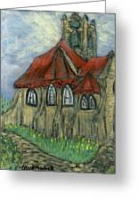 The Curch  Greeting Card by Oscar Penalber
