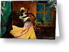 The Dancer Act 1 Greeting Card by Bedros Awak