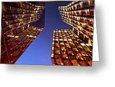 The Dancing Towers Greeting Card by Marc Huebner