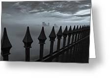 The Dark Night Greeting Card by Jennifer Grover