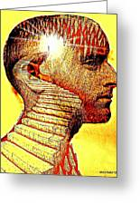 The Darkness Inside Your Mind Reveals The Light Greeting Card by Paulo Zerbato