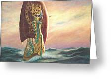 The Dawn Treader - Riding the Waves Greeting Card by Catherine Howard