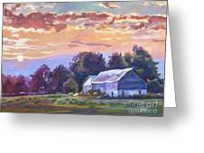 The Day Ends   Greeting Card by David Lloyd Glover