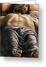 The Dead Christ Greeting Card by Andrea Mantegna