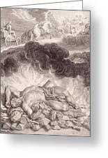 The Death Of Hercules Greeting Card by Bernard Picart