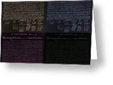 The Declaration Of Independence In Negative Colors Greeting Card by Rob Hans