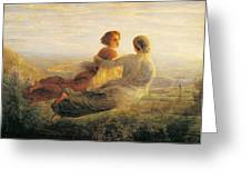 The Departure Of The Soul Greeting Card by Louis Janmot