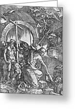 The Descent Of Christ Into Limbo Greeting Card by Albrecht Duerer