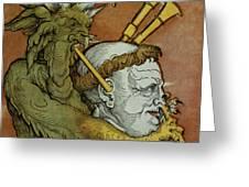 The Devil Greeting Card by Eduard Schoen