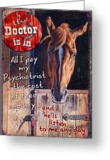 The Doctor Is In Greeting Card by JQ Licensing