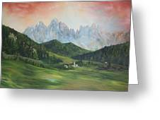 The Dolomites Italy Greeting Card by Jean Walker