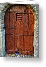 The Door - Vintage Art By Sharon Cummings Greeting Card by Sharon Cummings