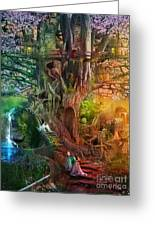 The Dreaming Tree Greeting Card by Aimee Stewart