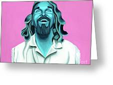 The Dude Greeting Card by Ellen Patton