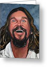 The Dude Greeting Card by Tom Carlton