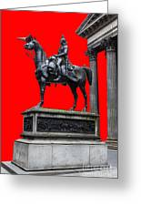 The Duke Of Wellington Red Greeting Card by John Farnan