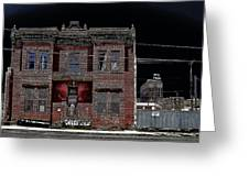 The Dumas Brothel - Butte Montana Greeting Card by Daniel Hagerman