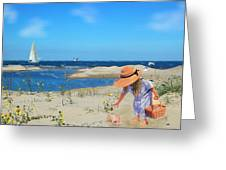 The Dunes Greeting Card by Mary Timman