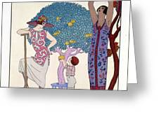 The Earth Greeting Card by Georges Barbier