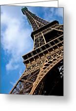 The Eiffel Tower From Below Greeting Card by Nila Newsom