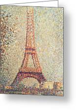 The Eiffel Tower Greeting Card by Georges Pierre Seurat