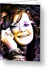 The Electric Janis Joplin Greeting Card by Barbara Chichester