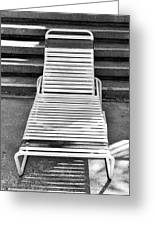 The Empty Chaise Palm Springs Greeting Card by William Dey