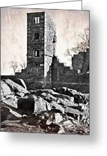 The Empty Tower Greeting Card by Linsey Williams