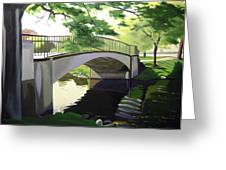 The Enchanted River Bridge 1 Greeting Card by JJ Long