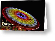 The Enterprise Amusement Park Ride Greeting Card by Deb Fruscella